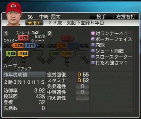 中崎翔太 プロ野球スピリッツ2015