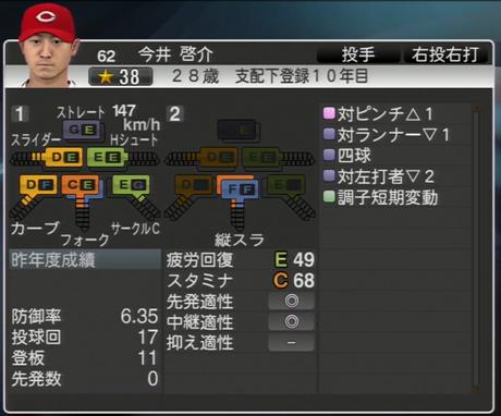 今井啓介 プロ野球スピリッツ2015