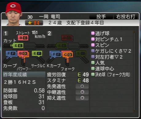 一岡龍司 プロ野球スピリッツ2015
