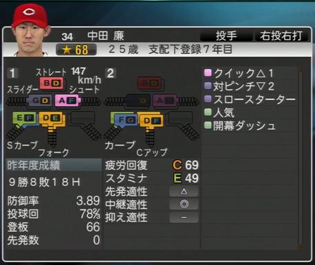 中田廉 プロ野球スピリッツ2015