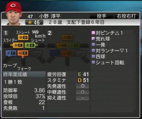 小野淳平 プロ野球スピリッツ2015