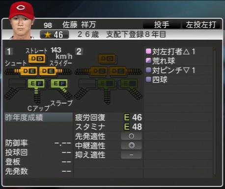 佐藤祥万 プロ野球スピリッツ2015