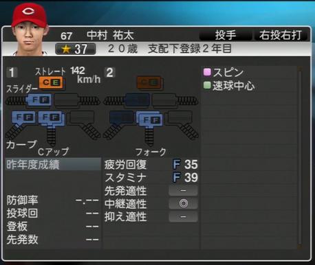 中村祐太 プロ野球スピリッツ2015