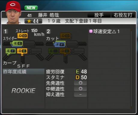 藤井皓哉 プロ野球スピリッツ2015