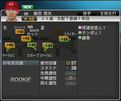 飯田哲矢 プロ野球スピリッツ2015