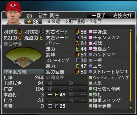 新井貴浩 プロ野球スピリッツ2015