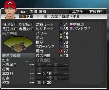 美間優槻 プロ野球スピリッツ2015 ver1.06
