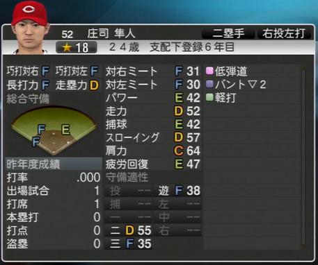 庄司隼人 プロ野球スピリッツ2015 ver1.06