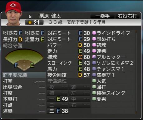 栗原健太 プロ野球スピリッツ2015