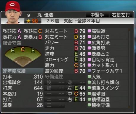 丸佳浩 プロ野球スピリッツ2015