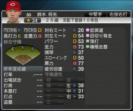 鈴木将光 プロ野球スピリッツ2015 ver1.07