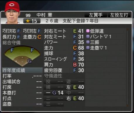 中村憲 プロ野球スピリッツ2015 ver1.07