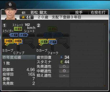 若松駿太 プロ野球スピリッツ2015