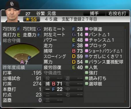 谷繁元信 プロ野球スピリッツ2015