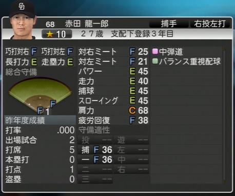 赤田龍一郎 プロ野球スピリッツ2015