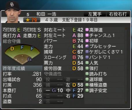 和田一浩 プロ野球スピリッツ2015