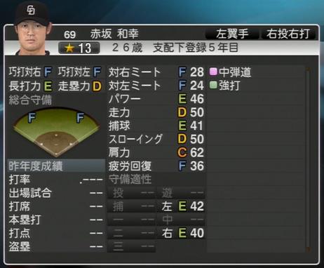 赤坂和幸 プロ野球スピリッツ2015