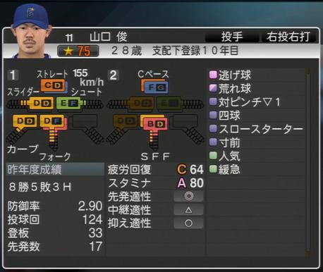 山口俊 プロ野球スピリッツ2015