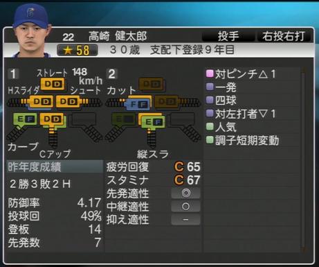 高崎健太郎 プロ野球スピリッツ2015