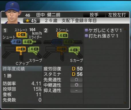 田中健二郎 プロ野球スピリッツ2015