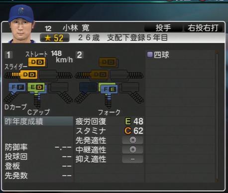小林寛 プロ野球スピリッツ2015