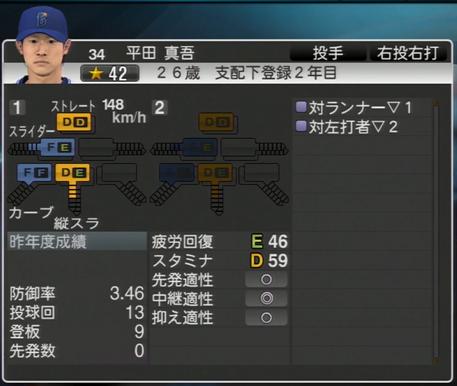 平田真吾 プロ野球スピリッツ2015
