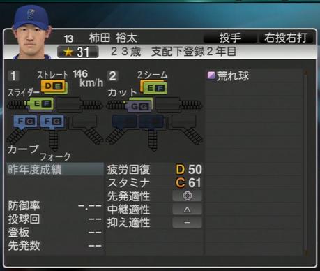 柿田裕太 プロ野球スピリッツ2015 ver1.07