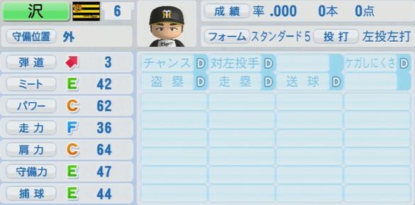 沢成樹 実況パワフルプロ野球2014