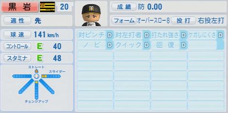 黒岩智人 実況パワフルプロ野球2014