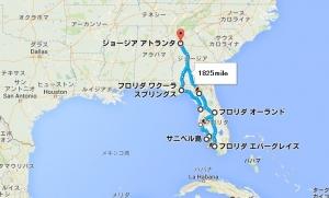 2014冬フロリダドライブ旅行地図
