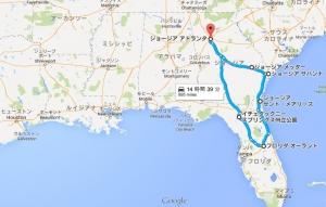 ジョージアコースト&フロリダ旅行地図