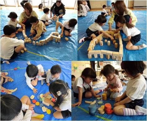 神海幼児園・砦とカラー