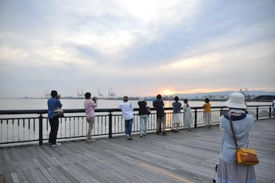 大阪港お散歩3夕日3