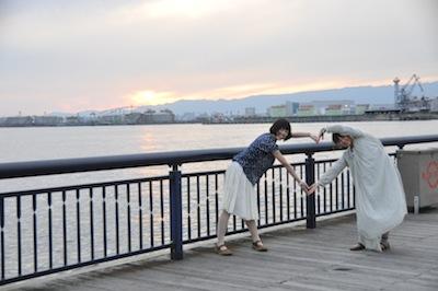 大阪港お散歩3夕日はーと