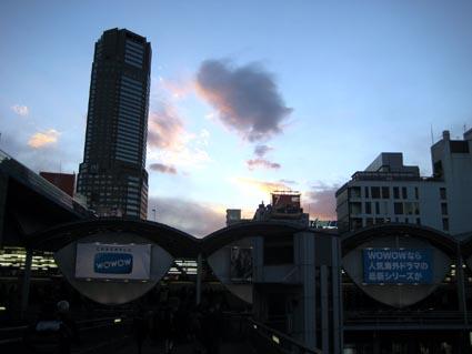 渋谷の夕景2