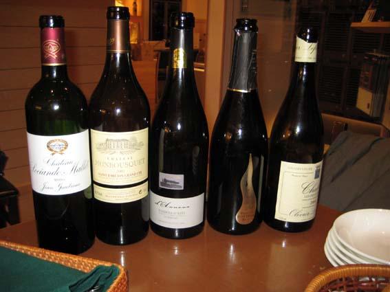 この日飲んだワイン達