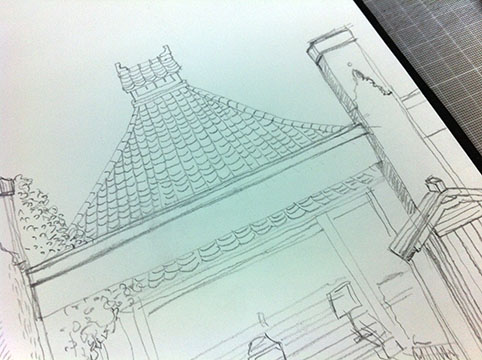 建物を描く
