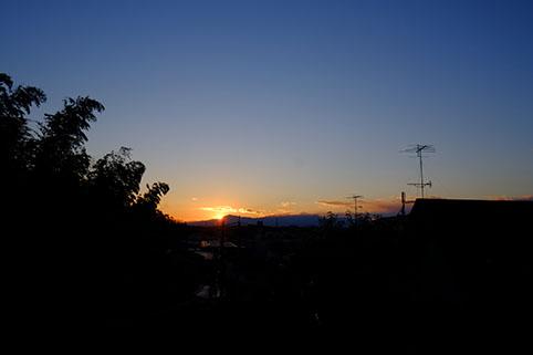 2015年1月2日の夕陽