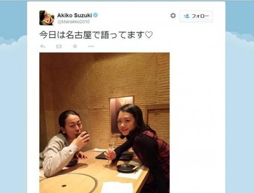 鈴木明子、浅田真央との酒席公開、とろんとした浅田真央の表情に「酔ってる?」との声も