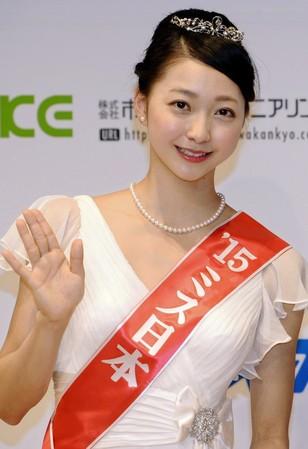 大きな瞳とキュートな笑顔…「ミス日本2015」、特別賞に新体操日本代表・畠山愛理選手