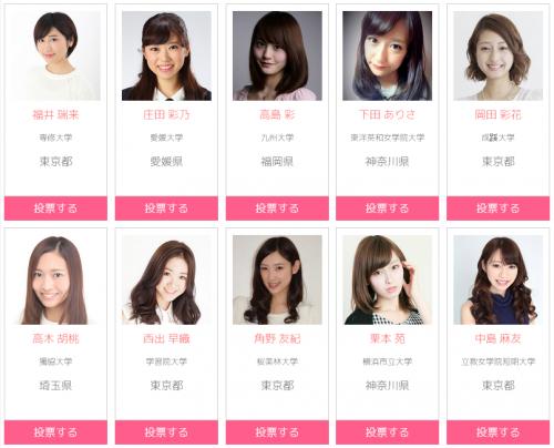 ミスの中のミスを決める日本一のミスコンテスト ファイナリスト20名が決定 お前らはどの娘がいい?