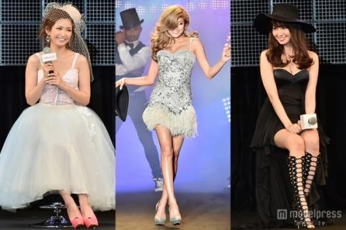 【美の競演】ローラ・紗栄子・小嶋陽菜、セクシードレスでスイーツ競演!美バスト&美脚で観客魅了へへ