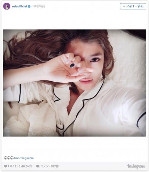 ローラの寝起きベッド写真が話題に「世界一きれい」「次元一可愛い」