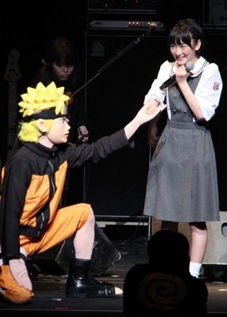 生駒里奈「あわわわ……」 アニメ「NARUTO」のイベントで大興奮