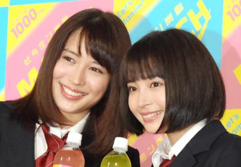 広瀬アリス&すず姉妹が男子校にサプライズ登場、「かわいい」と生徒歓喜…炭酸飲料「マッチ」新CM発表会