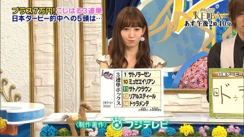 小嶋陽菜 日本ダービー3連単を的中! 「予想がプロ級の上手さ」