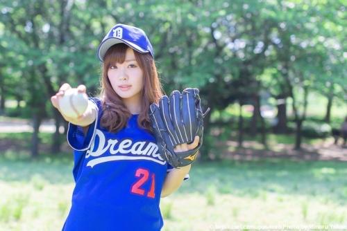 名古屋の美人女子大生 八木愛奈 高校では野球部マネージャー 今は女子野球部でセカンド ナゴヤドームで売り子