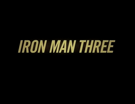 IRON MAN THREE.