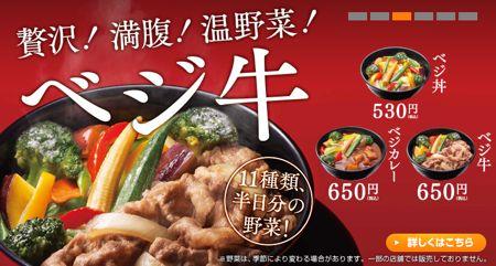 9861 吉野家HD ベジ丼系統