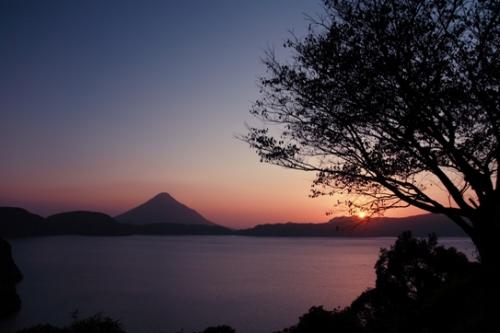 池田湖夕景